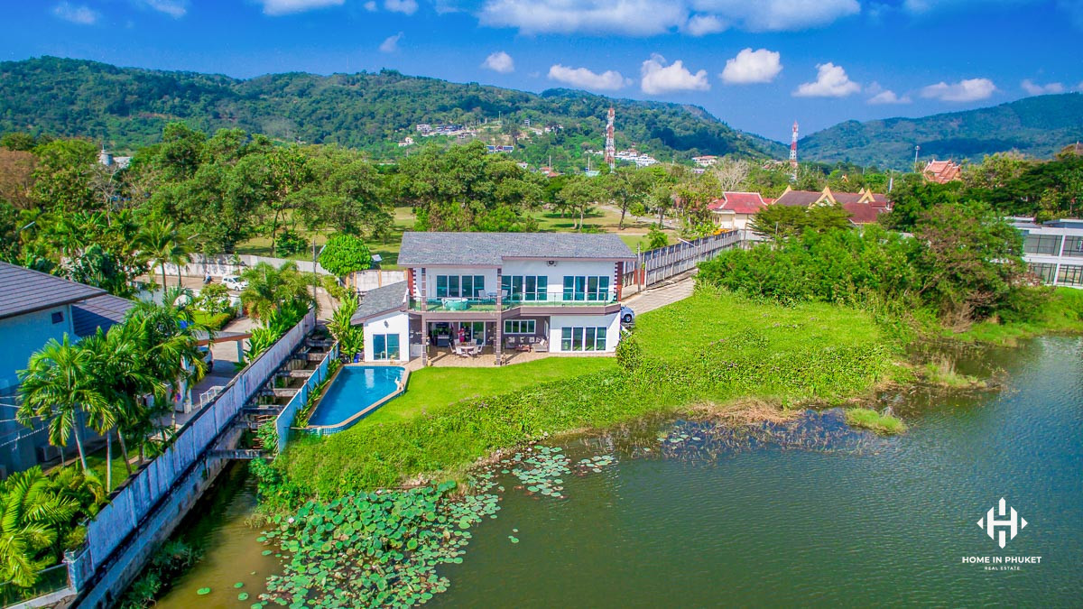 4-Bedroom Lake Front Villa in Chalong