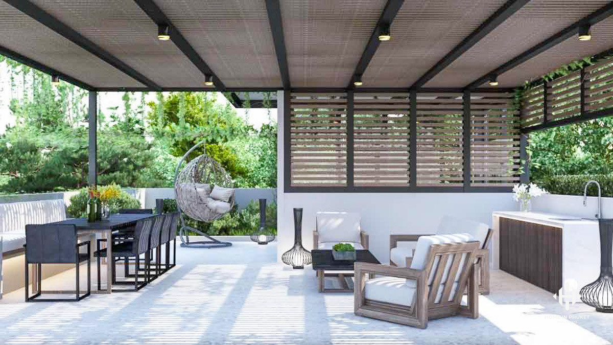 Ultra-Modern Pool Villas with Roof Terraces in Layan