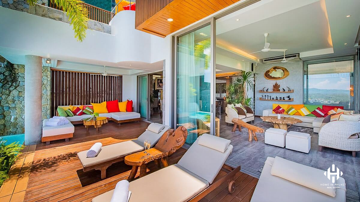 Modern 5-Bed Villa with Seaview in Bangtao