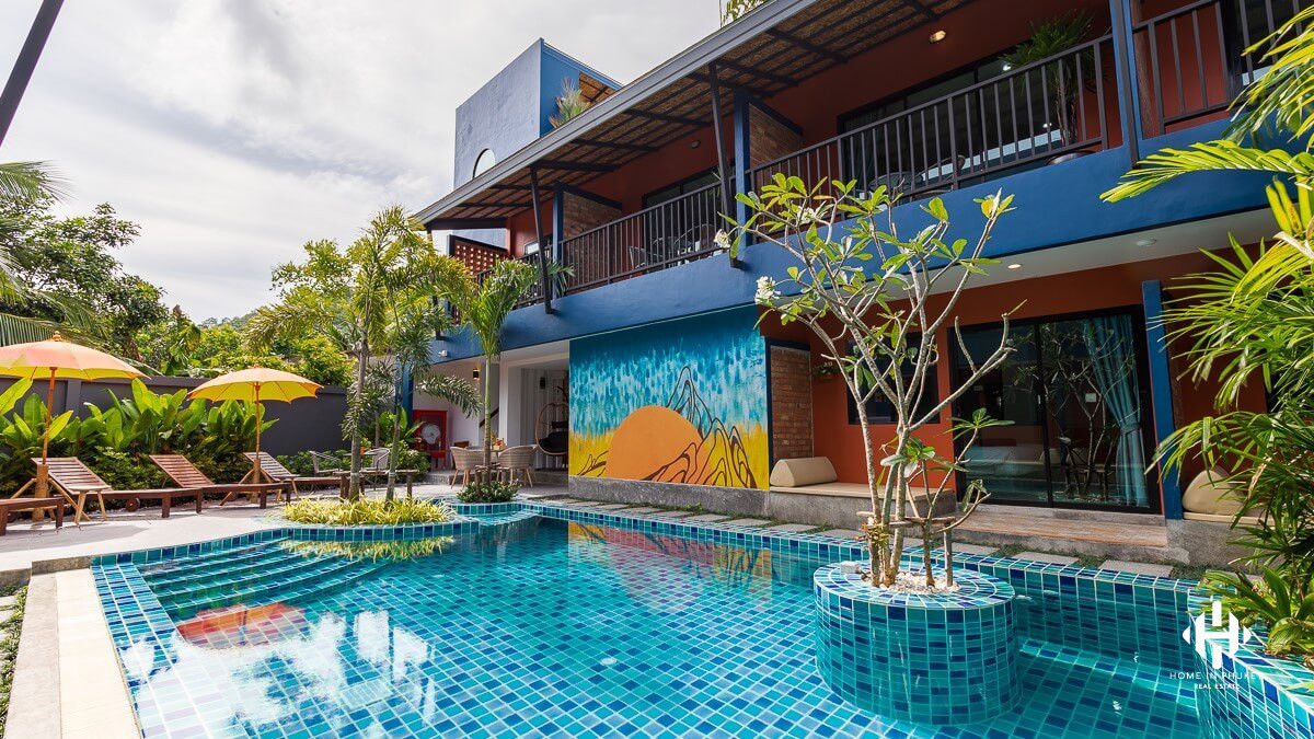 Boutique hotels 24 rooms near Rawai beach